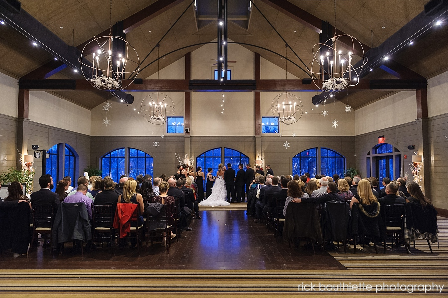 The Great Room At Labelle Winery During Wedding Ceremony