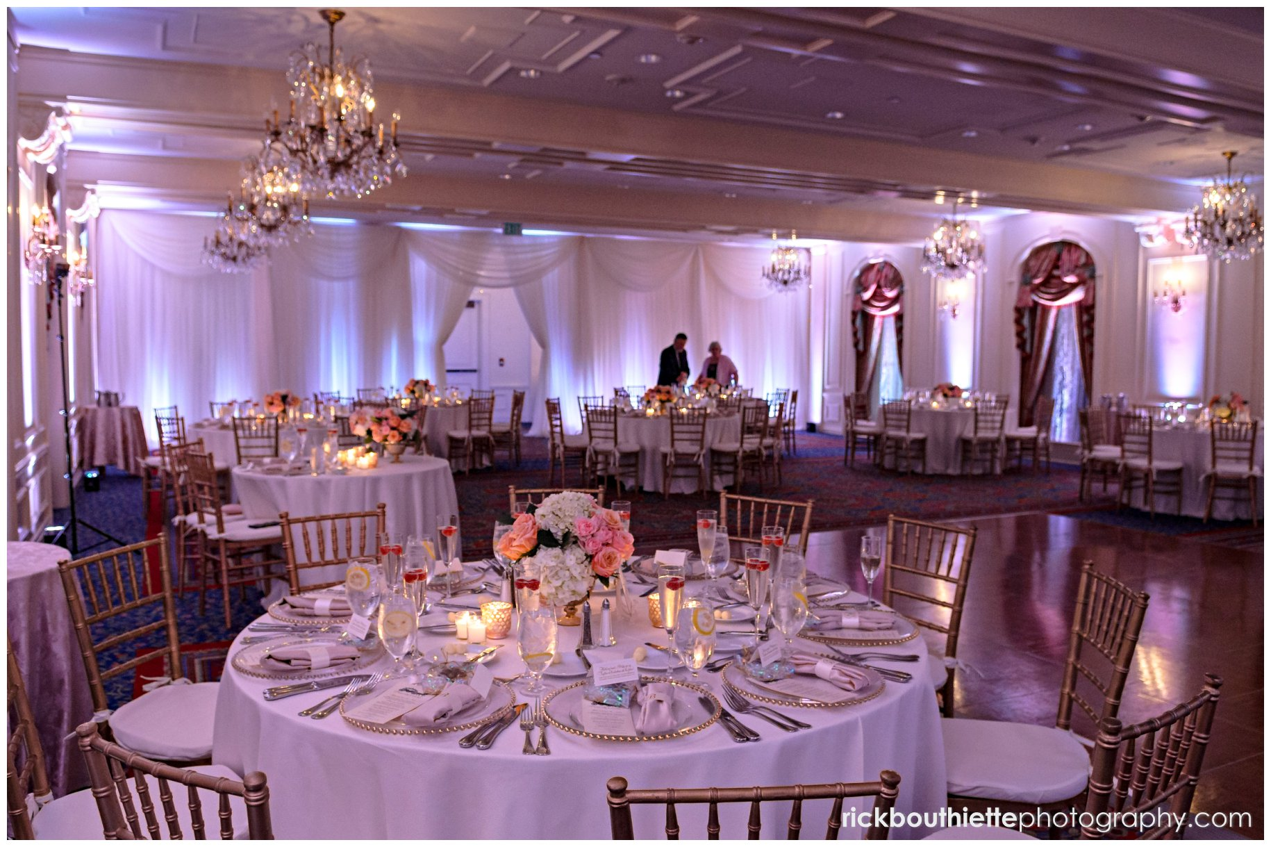 The Grand Ballroom At Wentworth By Sea Decorated For A Wedding Reception