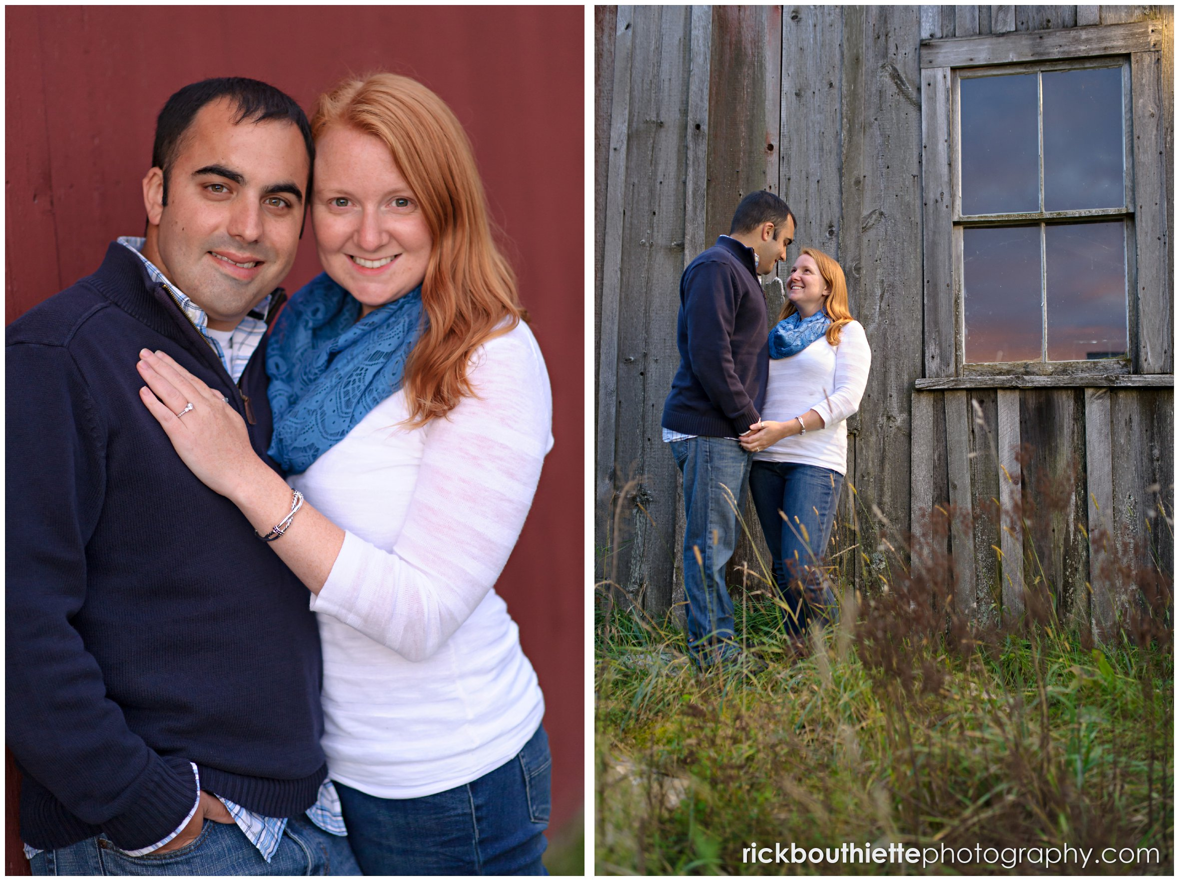couple at New Hampshire engagement session