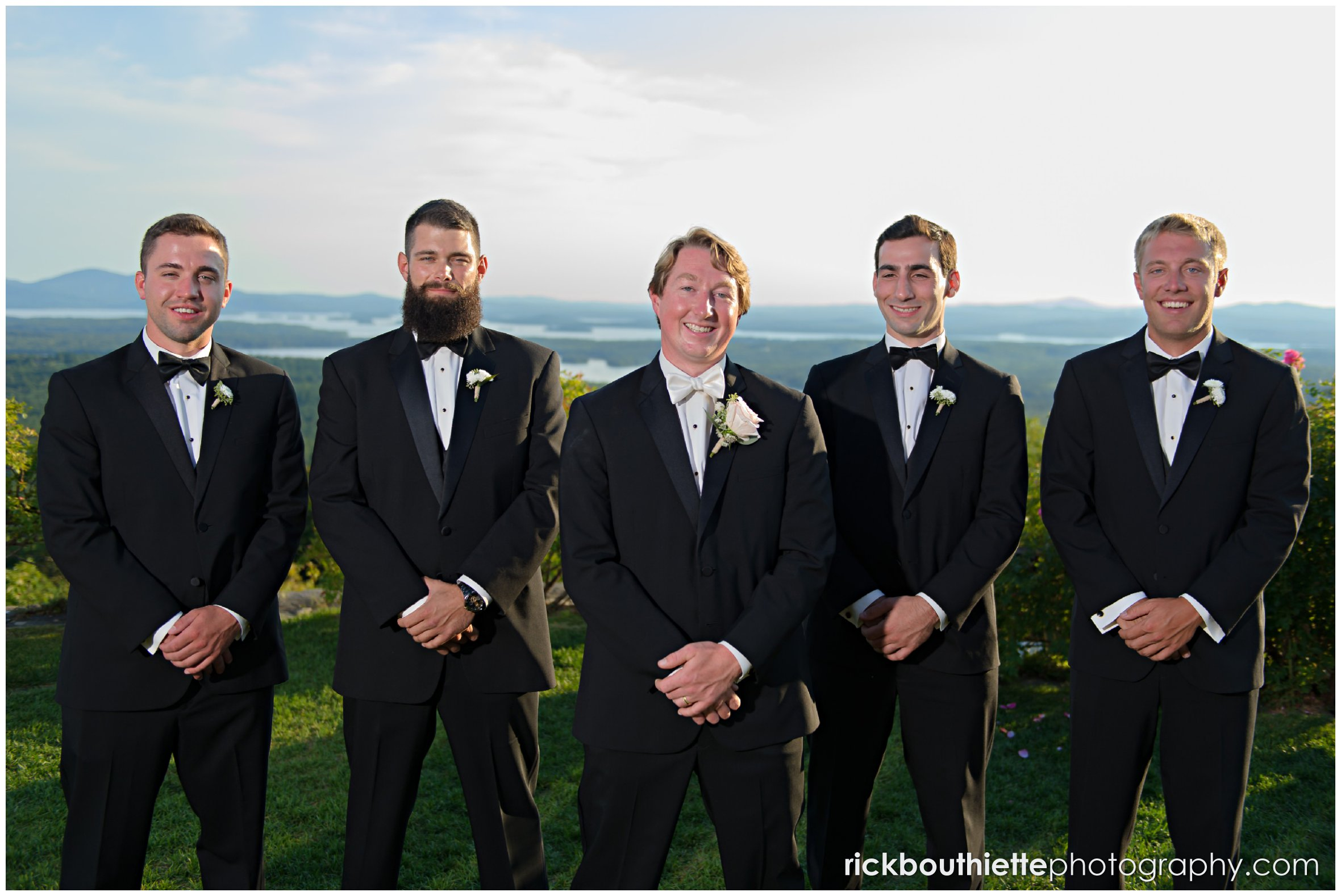 groom and groomsmen at Castle In The Clouds wedding