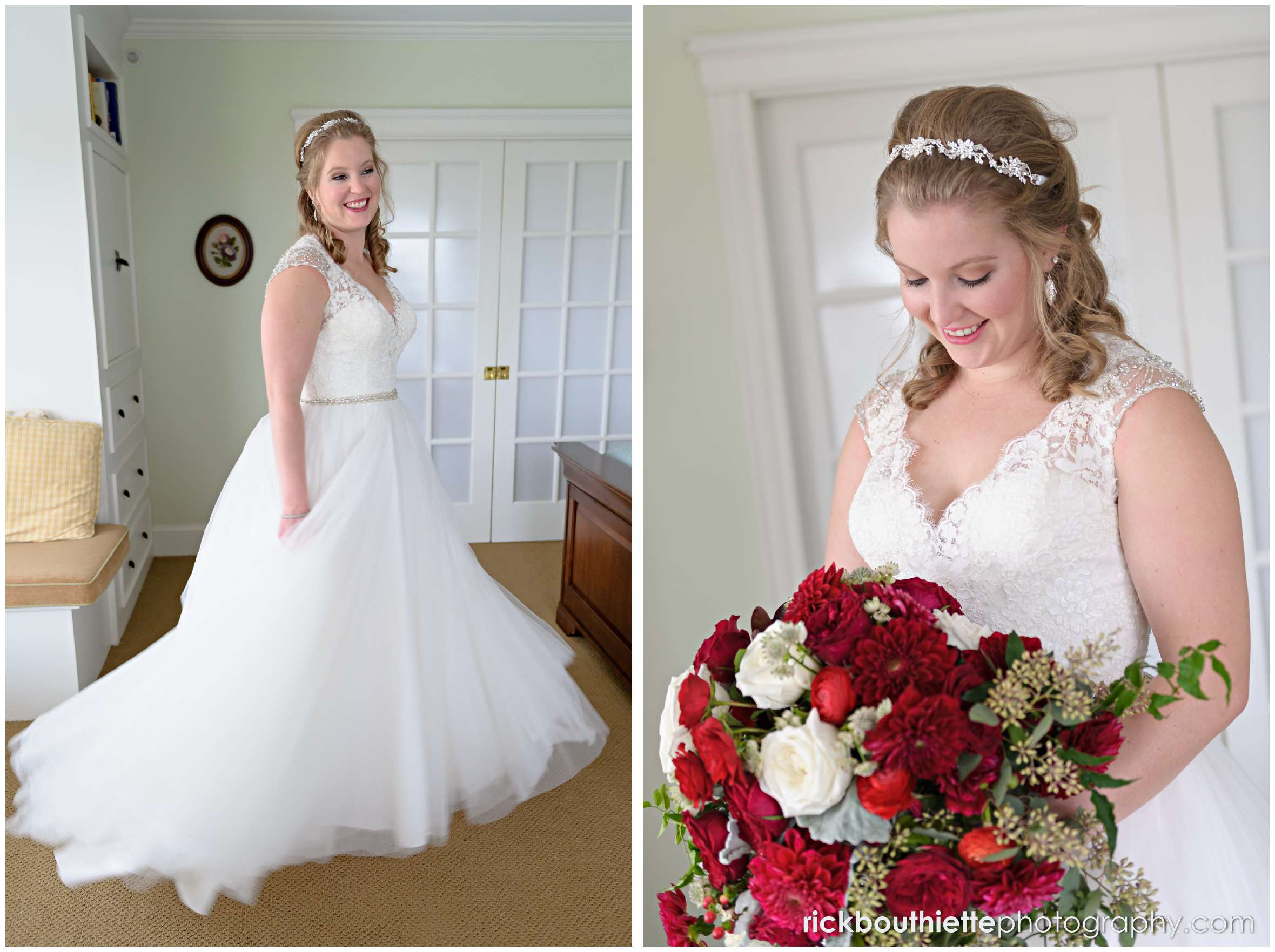 portrait of the bride before her wedding ceremony
