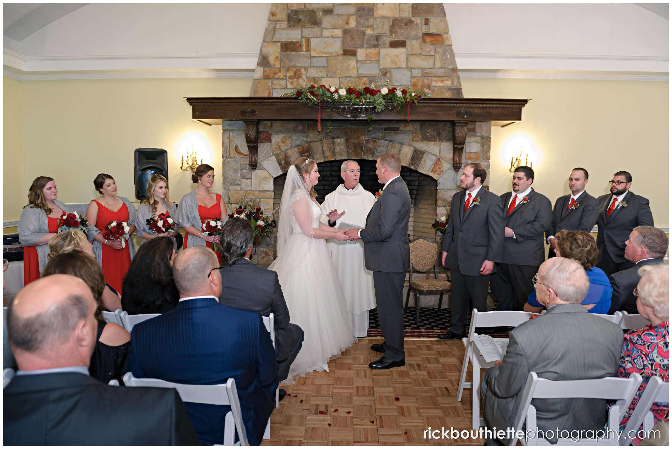 wedding ceremony in the Presidential Promenade at the mountain view grand resort