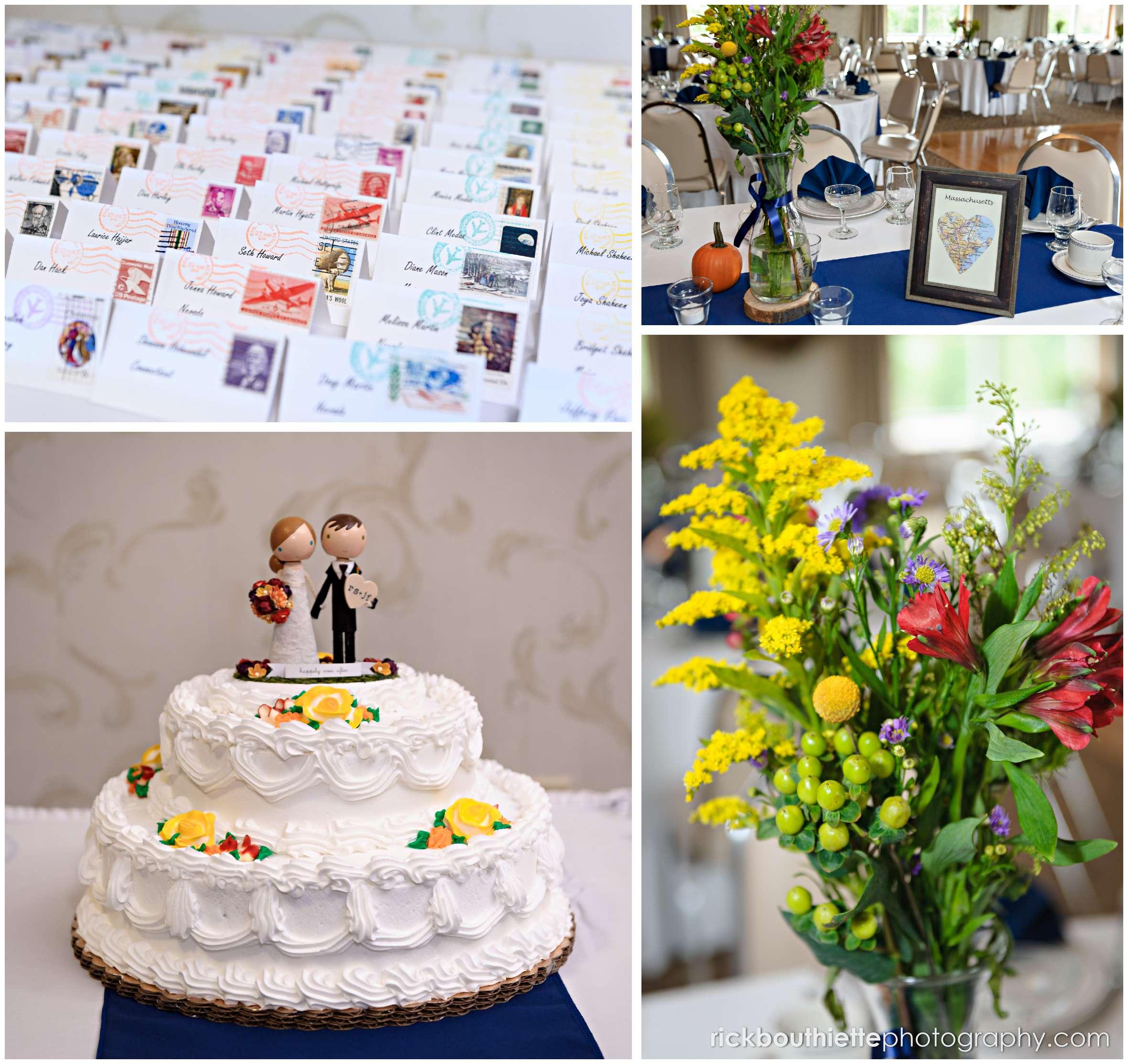 wedding details at Harris' Pelham Inn wedding reception