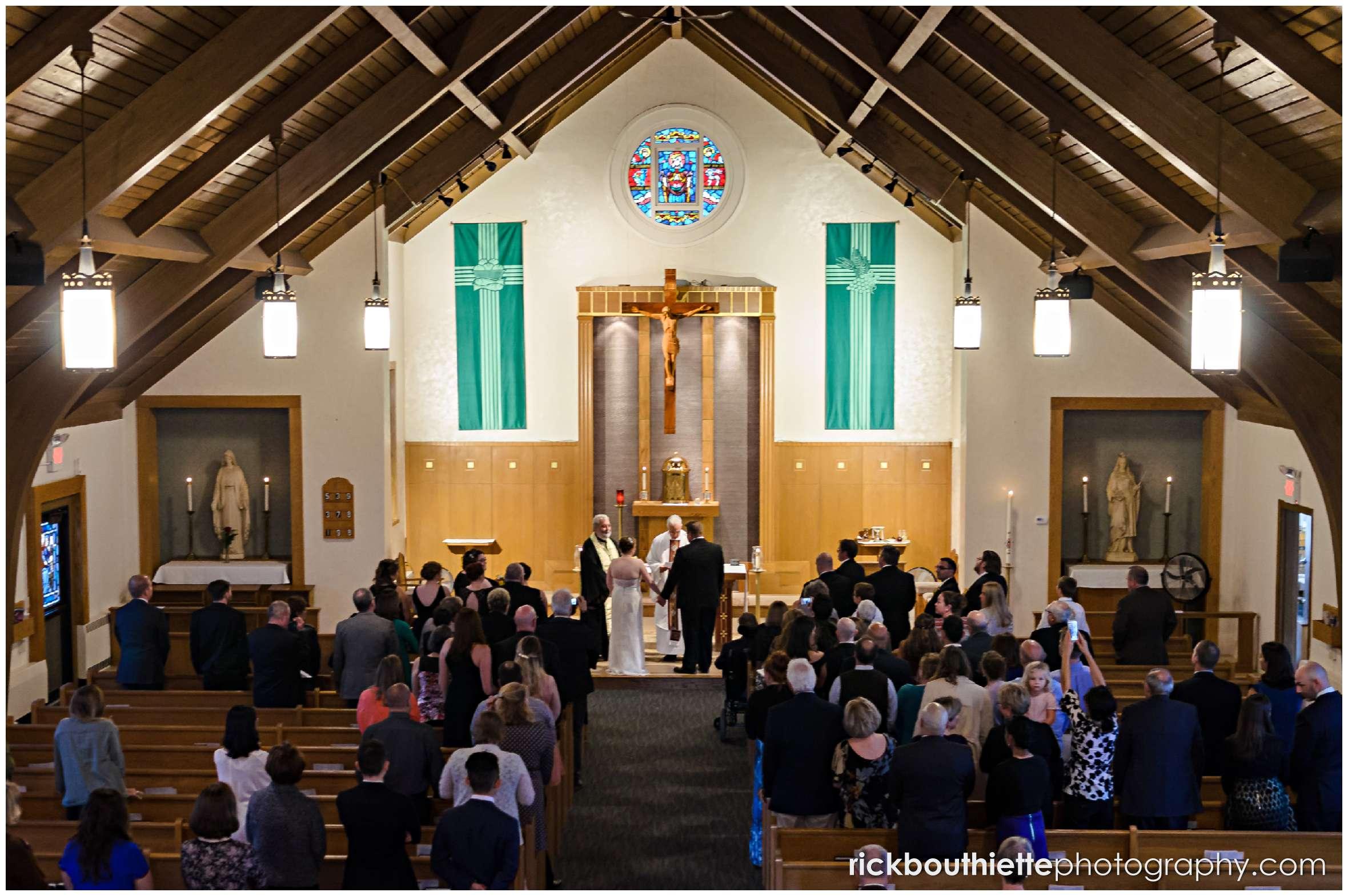 New Hampshire seacoast wedding ceremony at Saint Elizabeth of Hungary Mission Church