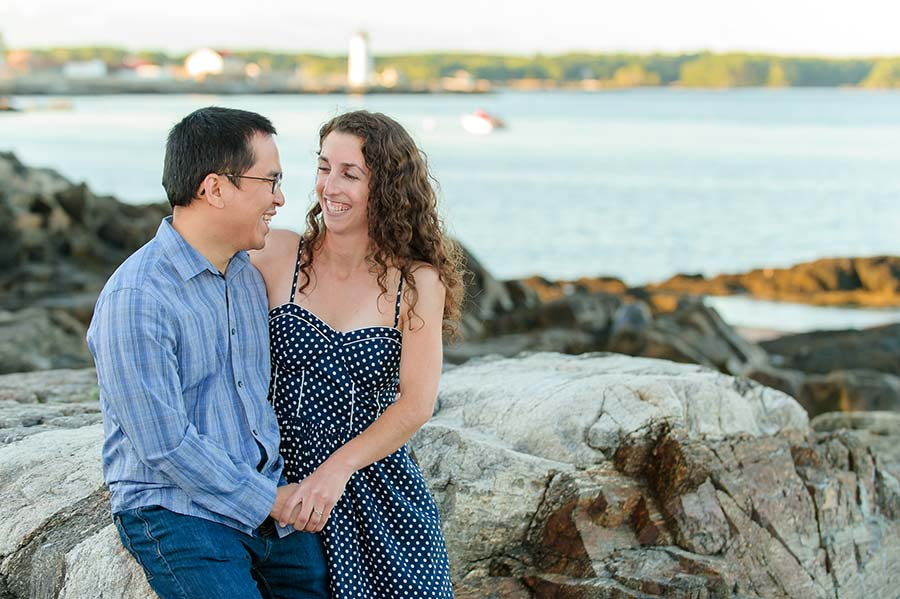Great Island Common Engagement Session :: Duy + Emily