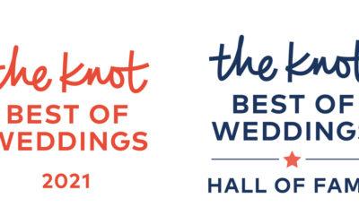 We're Celebrating Being Named Winner of The Knot Best of Weddings 2021!